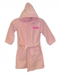 PERSONALISED BABY DRESSING GOWN/ROBE - pale pink